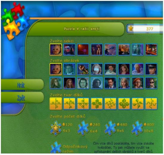 Puzzle zdarma a také soutěž o novou hru V režii smrti